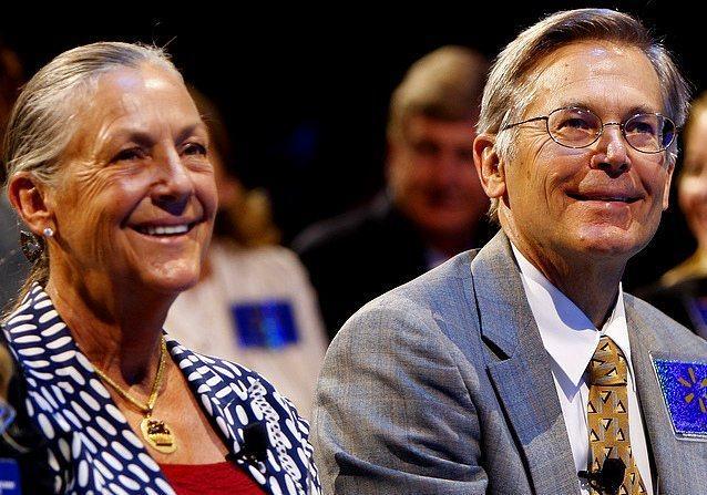 Jim ve Lynne Walton - 36 milyar dolar  Wal-Mart'ın kurucusunun en genç oğlu olan Jim Walton, Arvest Bank Group'un da CEO'su.