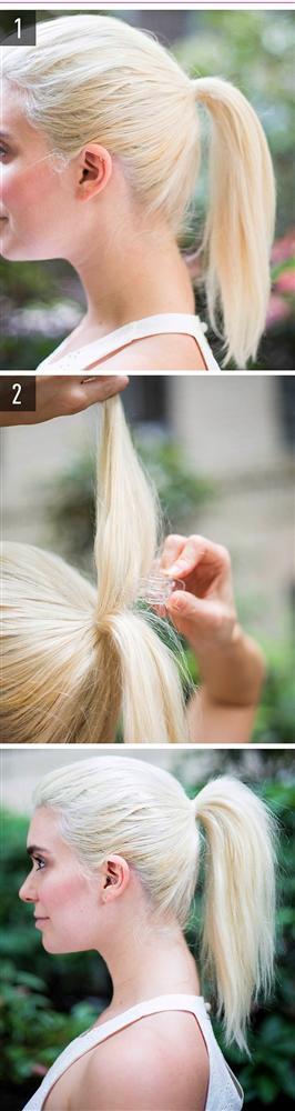 Sönük at kuyruğunuzu havalandırın!  Bağladıktan sonra içine takacağınız minik bir toka işinizi görecektir. Tokanın saçınızla aynı renk olması gerektiğini unutmayın.
