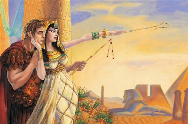 Kleopatra  Hayatındaki erkekleri saymak bile Kleopatra'nın büyüklüğünü gösterecektir: B. İskender, J. Sezar, Mark Antony... Mısır'ın Gülü Kleopatra büyük Roma ordusu ve İmparatorlarına rağmen Mısır'ı Roma'ya katmadan yönetmeyi başarabilmiştir. Kleopatra kadim Mısır'ın son yöneticisi olan 32. hanedanlığın bir üyesiydi. Eski bir mısır geleneği olarak kendi erkek kardeşi ile evlenerek hanedanın dağılmasını engellemiştir. Kendisini Mısırlılar tanrısı İsis'in reankarnasyonu olarak yüceltmişlerdir.