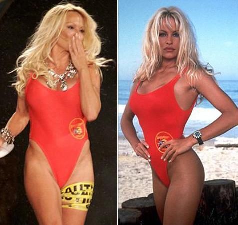1990'lar - Sahil Güvenlik dizisi sayesinde plajlarda bol bol kırmızı mayo görülürken, kesimler daha cesur ve derin hale geliyor