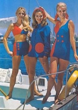 1960'lar - Denizcilerin üniformalarından ilham alan tasarımlar