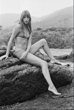 1969, Jane Birkin - Yine alt kısmı muhafazakar kesimli bikini