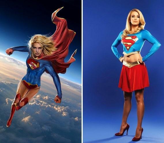 Supergirl / Burcu Esmersoy. Aslında bugünlerde yaptığı Kıvanç taklidiyle Thor'da da oynabilir sanki :)