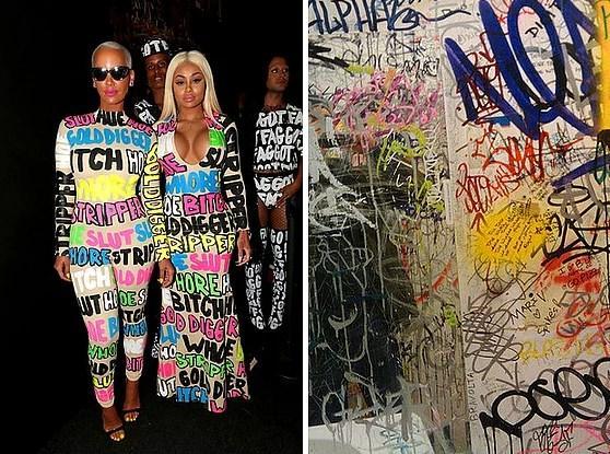 Ve diğer konuklar:  15. Amber Rose & Black Chyna - Graffiti Atılmış Duvar