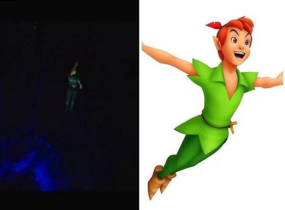 19. Bieber yaptığı sahne şovuyla - Peter Pan