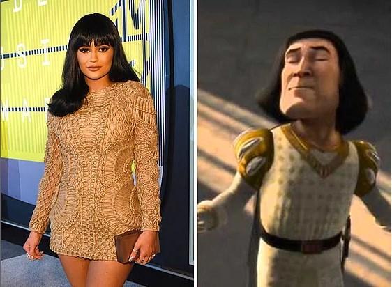23. Kylie Jenner - Shrek'teki Lord Farquaad