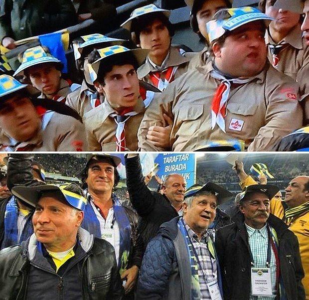 """""""Hababam Güm Güm Güm!"""" Geçen o kadar zamandan sonra Hababam yeniden okulu kırıp maça koşmuş."""
