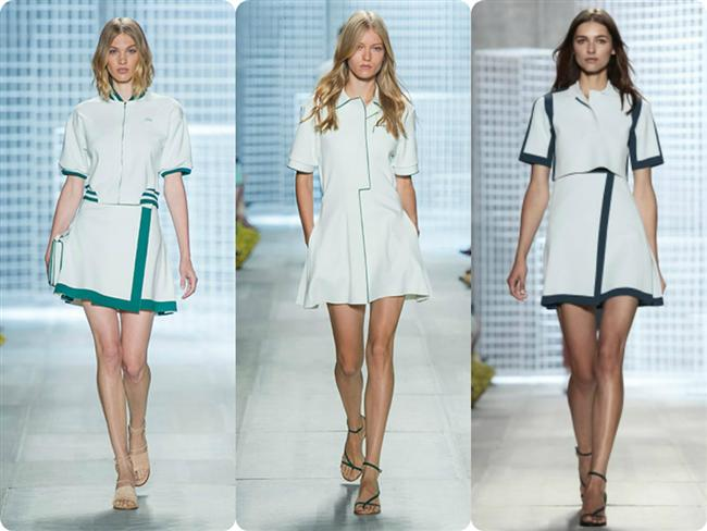 Tenis Kıyafetleri  Beyaz zaten uzun süredir moda, tenis ayakkabıları da öyle. Tasarımcılar şimdi de tenis kıyafetlerini günlük giyime uydurmaya kararlı görünüyor.