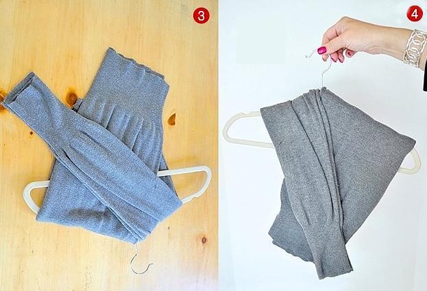 Bu katlama yöntemi sayesinde sarkma ihtimali olan kıyafetlerinizi güvenle muhafaza edebilirsiniz.