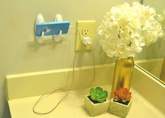 Telefonunuzun kablosu yeterince uzun değilse bu şekilde bir çözüm üretebilirsiniz.