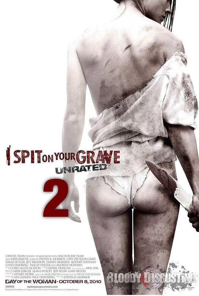 I Spit On Your Grave Unrated 2    Bir kadının başına gelebilecek en ağır işkence ve tecavüz sahnelerine yer veren ilk filmin ardından uslanmıyor, ikinci filmi de izliyoruz. Afişten hissettiğiniz her şeyi alıp, birkaç katla çarparsanız, belki izlemeden de neden tartışmalara yol açtığını daha iyi anlayabilirsiniz.