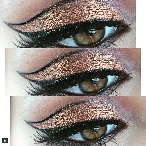 Ve biraz eyelinerla harikalar yaratabilirsiniz.