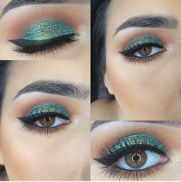 Ama parıldayan yeşil gözler görkemlidir.