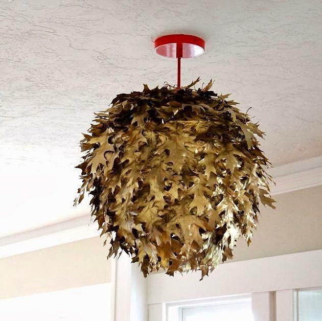 Peki ya evindeki avizeyi renklendiren sonbahar yaprakları olsa?