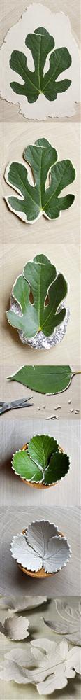 Evinize yaprak şeklinde kaseler yapmak isterseniz.