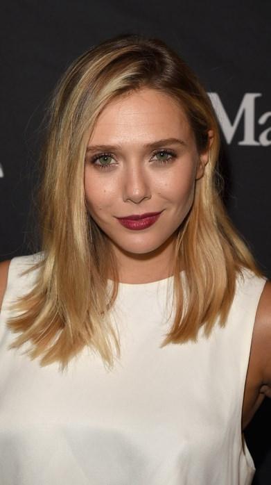 Elizabeth Olsen  Elizabeth Olsen son zamanlarda çokça gördüğümüz küt ve çabasız lob kesimini sürekli tazeleyenlerden. Bu kış saçını uzatmak isteyenler için de kusursuz bir örnek.