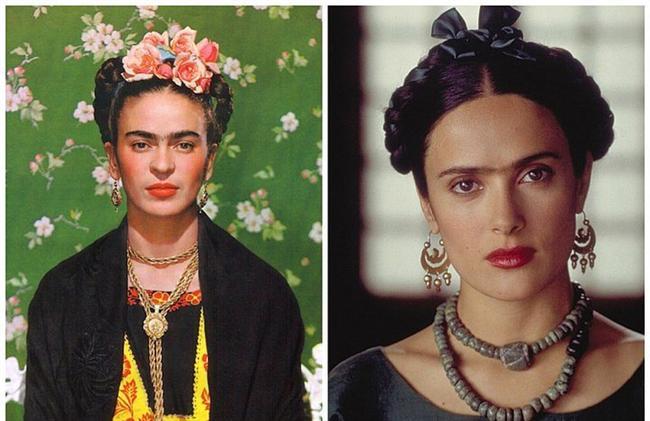 "Frida Kahlo - Salma Hayek, ""Frida""."