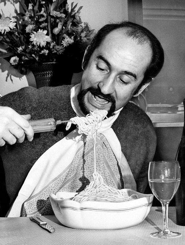 Spagetti Döndürücü  1968 yılında üretilen bu spagetti döndürücü, Fransız mucit Alain Dham tarafından tasarlanmış.