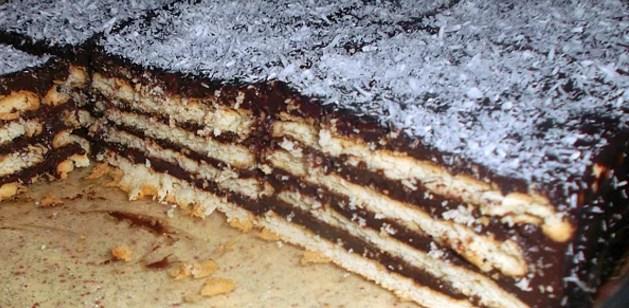 Bisküvili pasta  O zamanlar nimetti. Şimdi olsa gözümüzün ucuyla bile bakmayız. 😔