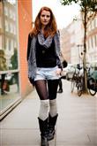 Sonbaharın Dizüstü Çorap Kombinleri - 35