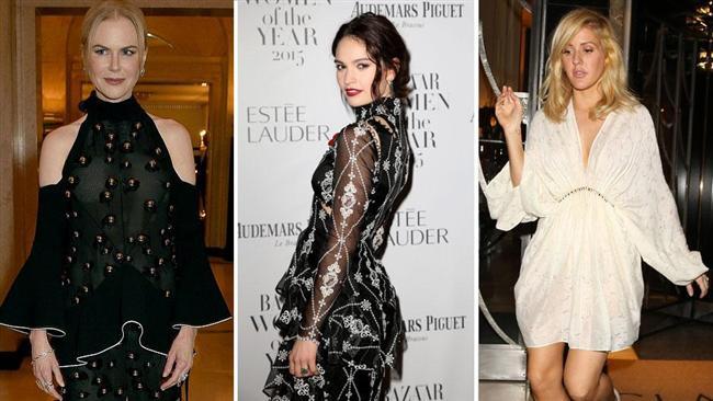"""Harper's Bazaar Dergisi'nin Londra'da gerçekleşen """"2015 Yılın Kadınları Ödülleri"""" töreni Kate Winslet, Lara Stone, Nicole Kidman ünlü isimleri ağırladı. Claridge's Hotel'de düzenlenen törende kadın davetliler tarz yarışına girdi."""