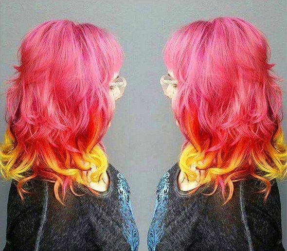 Bazıları da tüm saçını renklendiriyor.