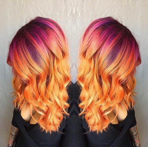 Gün batımı saçlarıyla tanışmaya ne dersiniz?