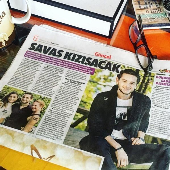 Sercan Badur  Bugün #hürriyetgazetesi okunur! #güllerinsavasi izlenir! ✌