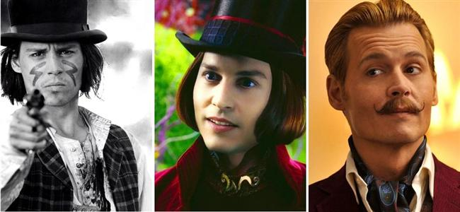 Johnny Depp (32-42-52)  Dead Man / Charlie and the Chocolate Factory / Mortdecai