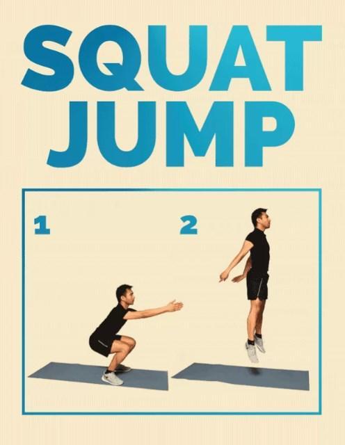 Zıpladıktan sonra yere ilk olarak parmak ucunuz temas etmeli ve ardından squat pozisyonu.