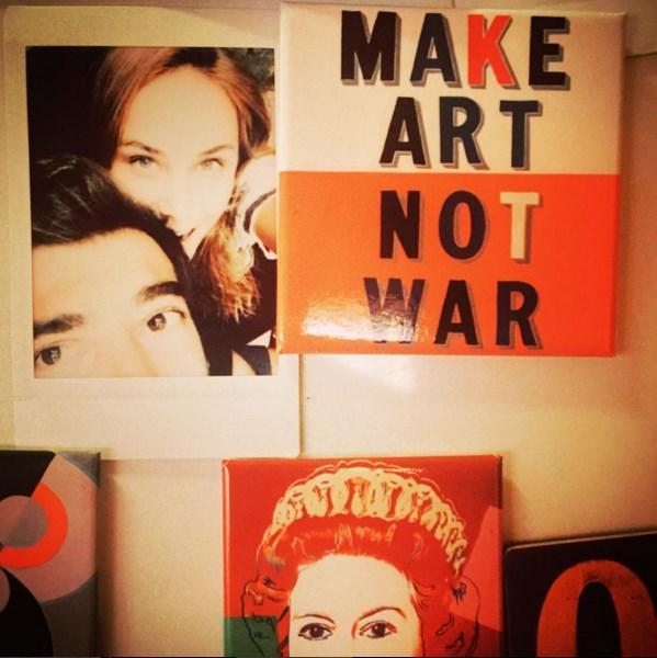 İlker Kaleli  Make art not war. / Savasma, sanat yap.  #buzdolabindansevgiler