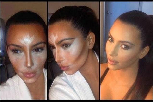 4. Kontürleme  Makyaj sanatçılarının uzun zamandır uyguladığı koyu renk bir pudra ve aydınlatıcı ile yapılan yüzü ince ve güzel gösterme yöntemi kontürleme; Kim Kardashian sayesinde günlük yaşama adapte oldu. Artık birçok kadın günlük makyajında da hafif bir kontürleme uyguluyor.