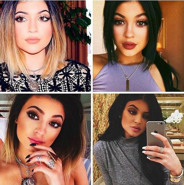 5. Gül Kurusu ve Kahverengi Ruj  Dudaklarını dolgunlaştırdıktan sonra herkesin makyajını takip ettiği Kylie Jenner, gül kurusu ve kahverengi gibi doğal tonlarda seçtiği ruj renklerini popüler hale getirdi.