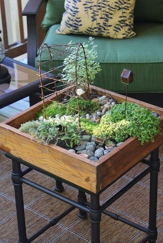 Ev İçi Bahçe Dekorasyon Örnekleri - 1
