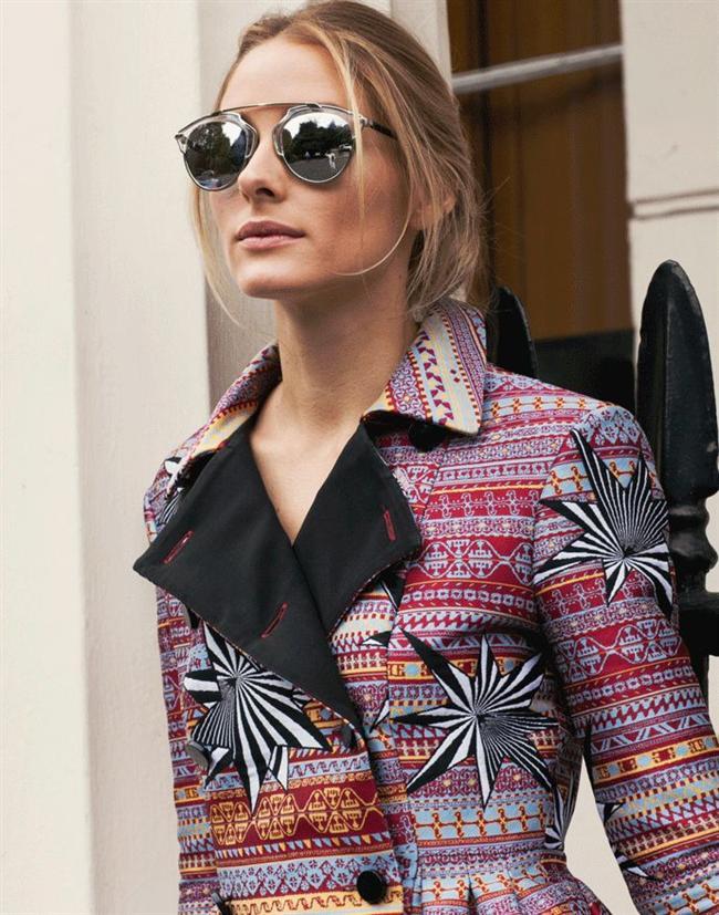 Olivia Palermo – İddialı güneş gözlükleri  Ünlü stil ikonu Olivia Palermo, giyindiği her kıyafet ile yeni bir akım başlatanlardan. Yaptığı kombinler ve tercih ettiği parçalar ile her zaman beğenimizi toplayan güzel ikonun favori aksesuarı, iddialı güneş gözlükleri. Genellikle parlak camlı, büyük çerçeveli dikkat çeken modelleri tercih eden Palermo, bu gösterişli aksesuarlardan asla vazgeçmiyor.