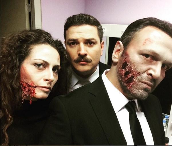 Ali Sunal  @mehmetturgut ile #falanfilan The Walking Dead ;)