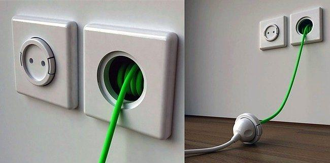 Uzatmalı kablo  Duvarın içinden uzayan bir fiş harika olmaz mıydı? Hem kablo kalabalığı yapmaz hem yattığımız yere elektrik götürmüş oluruz.