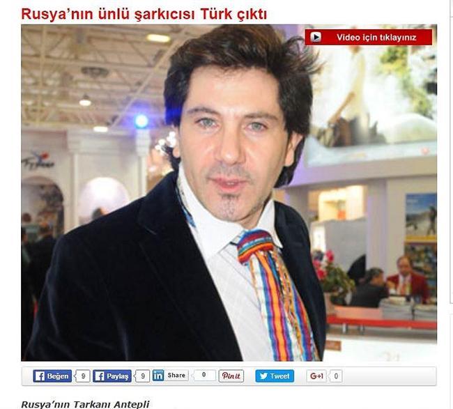 Avraam Russo  Rusya'nın ünlü şarkıcısı Türk olduğunu açıklamıştı.