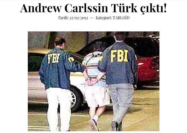 2256 yılından gelen çılgın Türk  2256 yılından geldiğini söyleyen ve sıfır hatalı işlemler ile kısa sürede New York Borsası'nı alt üst ederek inanılmaz bir servet yapan Andrew Carlssin olarak bilinen ilginç kişinin Türk olduğu iddia edildi.