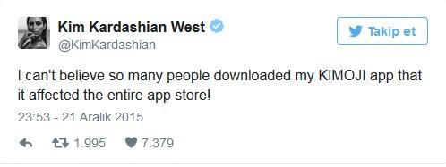 """""""O kadar çok kişi Kimoji'yi indirdi ki, App Store bile etkilendi. İnanamıyorum!"""""""