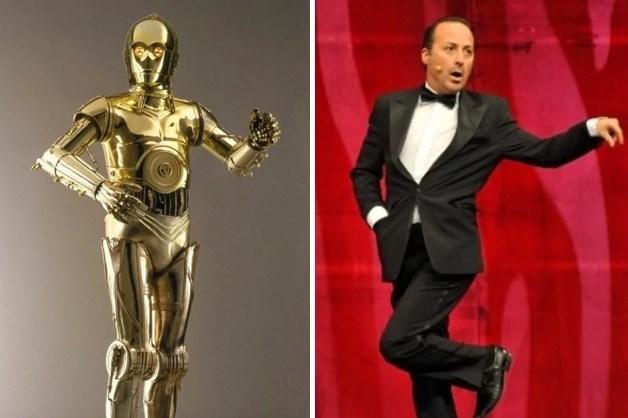 C-3PO / Tolga Çevik  Bu rol için doğmuş.