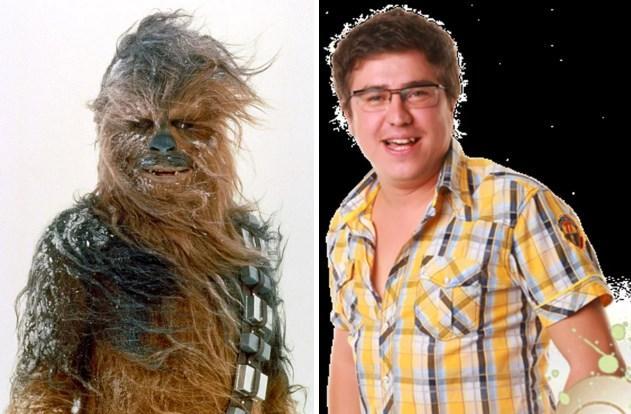 Chewbacca / İbo  Ses efektine gerek yok, İbo'nun o sesi çıkarabileceği kesin.