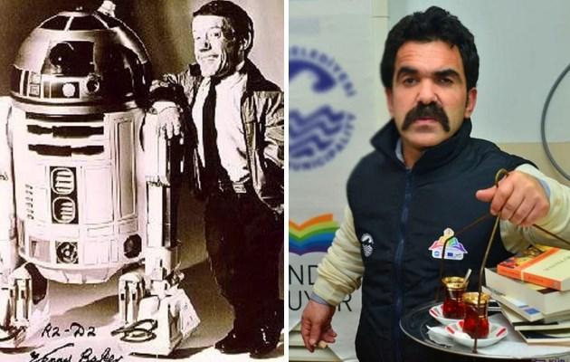 R2-D2 / Çaycı Hüseyin  Kimin oynadığını bilirsek filme konsantre olamayabiliriz.