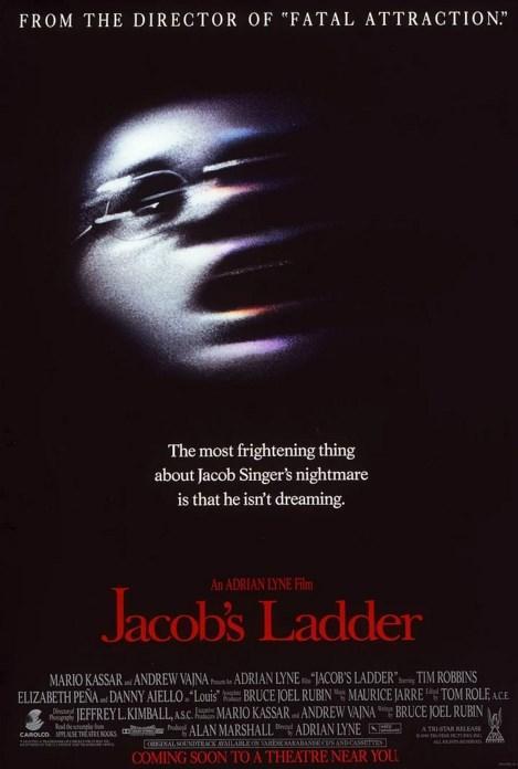 Jacob's Ladder / Dehşetin Nefesi (1990)  Kâbusları uyanıkken de devam eden evli ve bir çocuk babası Vietnam gazisi Jacob Singer (Tim Robbins), aklını kaçırdığını düşünmektedir. Yaşadıkları, Vietnam'da askerler üzerinde denenen çok güçlü bir uyuşturucunun yan etkileri midir? Yoksa sadece savaş sonrası sıkıntıları daha da mı kötüleşmiştir? Ya da Jacob tahminlerinin ötesinde, çok daha korkunç bir durumla mı yüz yüzedir?  Dehşetin Nefesi gerçeküstüyle gerçeğin birbiriyle giderek kaynaştığı öyküsüyle seyirciyi her an diken üstünde tutmayı başarırken, kurduğu görkemli bulmacayı şok edici bir final ile kusursuz bir çözüme ulaştırıyor...