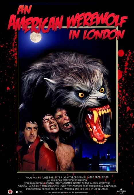 An American Werewolf in London / Kurt Adam Londra'da (1981)  David, bir arkadaşı ile birlikte hiç umulmadık bir olayla dehşet bir saldırı içinde kalır. Kim tarafından bu saldırıya maruz kaldıklarını anlamak bile başlangıçta pek mümkün olmaz. David ile arkadaşı Amerika'dan gelmişlerdir ve olay İngiltere'de gerçekleşir. David yaşamak şansına sahip olur ancak arkadaşını kurtaramaz ve o ölür. Yaşadıkları olayın sonucunda her ne kadar David tam olarak bunu fark etmese de kanına lanet bulaşmıştır. Saldırının başrolünde yer alan bir kurt adamdır. Olayda o da ölmüştür. David'e bulaşan lanet de buradan gelir. Genç adam hastanededir ve rüyalarında kendini dört ayak üzerinde koşarak avlanırken görür; kan ter içinde uyanır. Başucunda bulduğu güzel hemşire Alex, kâbusun etkisini dindirebilecek tek kişidir. Ancak aşkın bile üstesinde gelemeyeceği bir alınyazısı vardır artık. Dolunayla birlikte kasıla kasıla ellerinin birer pençeye dönüşmesini, bedeninin hayvanlaşmasını dehşet içinde seyreder. Kıllarla kaplanan vücudu vahşi dürtülerle Londra geceleri içinde kendine av arar. Kurt adamlar tarafında öldürülenler, varlık ile yokluk arasında sıkışıp kalmaktadır. Yitirdiği arkadaşı da, kendisinin öldürdüğü zavallılar da, birer hortlak görünümünde karşısına çıkıp konuşurlar onunla.