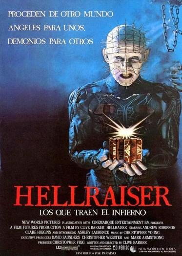 Hellraiser (1987)  Berduş bir gezgin olan Frank Cotton Kuzey Afrika'da bir yerde, eski çağlardan kalma gizemli bir akıl küpünü satın alır. Küpün, doğru biçimde oynandığı takdirde, cennetin ve sonsuz zevkin kapılarını açacağına dair bir rivayet bulunmaktadır. Küpü, tam bir izbe durumundaki evinin çatı katında kurcalayan Frank, başka bir boyutun kapılarını açmayı başarır.