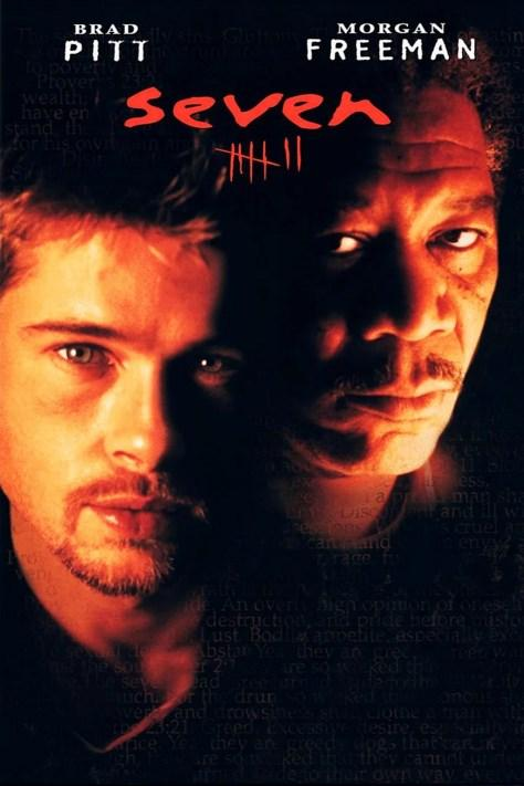 Se7en / Yedi (1995)  Bir seri katil 7 ölümcül günahı işleyenleri kendi yöntemleriyle öldürmektedir. Yedi Ölümcül Günah, Hıristiyanlık inançlarına göre Kibir, Açgözlülük, Şehvet Düşkünlüğü,Kıskançlık, Oburluk,Yıkıcılık ve Tembellik'tir. İki polis dedektifi bu seri katilin peşindedir. Film, Amerika'da gösterime girdiği hafta 14.000.000 dolar gelir elde etmişti. Yönetmen David Fincher imzalı film,sürükleyici konusu ve oyuncuların performanslarıyla tüm dünyada gişede büyük başarı yakalamıştı. Başrollerde Brad Pitt, Morgan Freeman, Gywneth Paltrow var. En iyi kurgu dalında 1996'da ödüle aday olan film bu ödülü alamamıştı. Özellikle sürpriz ve çarpıcı finali ile şimdiden sinema tarihinde bir klasik olarak yerini aldı.