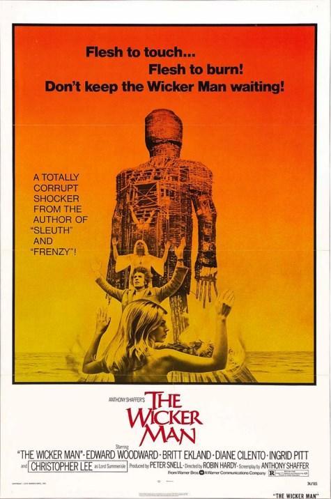 The Wicker Man / Lanetli Ada (1973)  Neil Howie isimli bir dedektif polis İskoçya'daki Summerisle Adası'nda meydana gelen gizemli bir davayı çözmek için bölgeye gider. Bir genç kız esrarengiz bir şekilde ortadan kaybolmuştur ve Howie onu bulması için görevlendirilmiştir. Adaya vardığında bir sürprizle karşılaşan dedektif yerli halktan aslında öyle bir kızın asla var olmadığını işitir. Koyu bir Pagan inancına sahip olan yerli halk genç kızın varlığını kabul etmedikçe Neil Howie burada paganizme dair öğrendiği şeylerle birlikte olayların göründüğü gibi olmadığına kanaat getirecek, genç kıza ne olduğunu öğrenebilmek için ada halkına karşı zorlu bir mücadeleye girişecektir.