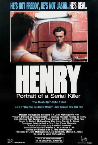 Henry: Portrait of a Serial Killer (1986)  Hapishaneden çıkmış olan katil Henry, birkaç yıl önce burada tanıştığı arkadaşı Otis ile birlikte, Chicago'da yaşamaktadır. Başlarda Henry'nin cinayet dürtüsünden haberdar olmayan Otis, iki fahişeyle birlikte arabalarında ilerlerken fark eder. Henry, ortada hiçbir sebep yokken, iki kadını acımasız bir şekilde öldürür. Böylece Otis, ev arkadaşının karanlık yüzüne şahit olmaya başlar. Cesetlerden kurtulmaya çalışırken Otis'in tek kaygısı yakalanmaktadır. Bu görev başarıyla sona erer ve Henry, arkadaşına seri katillik sanatı adını verdiği bu dehşeti tanıtmaya başlar.