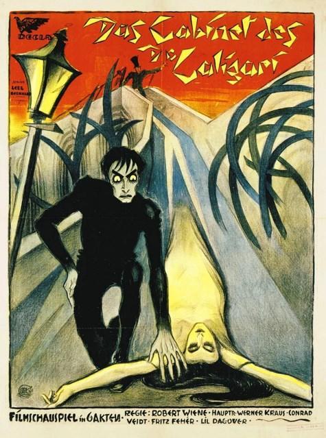 The Cabinet of Dr. Caligari / Dr. Caligari'nin Muayenehanesi (1920)  Alman sinemasının dışavurumcu akımın en önemli temsilcileri arasında yer alan yönetmen Robert Wiene tarafından 1919 yılında çekilen film, bir Alman kasabasında işlenen esrarengiz seri cinayetleri ve gelişen olayları konu alıyor. Sinema sanatında 'Caligarism' teriminin doğmasına neden olan kurgu ve kamera kullanımıyla büyük ses getiren film, sessiz sinema döneminin baş yapıtları arasında yer alıyor.